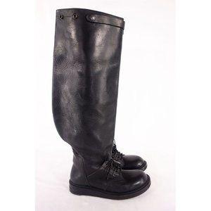 RICK OWENS 8.5 Rare Black Runway Elephant Boots